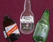 Spoon rests made from recycled soda and beer bottles