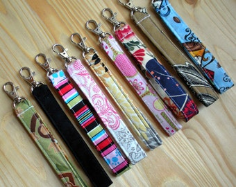 Design Your Own Custom Wristlet Strap Key Fob for Iphone Droid Blackberry Cell Phone Pouch Case