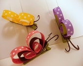 Set of All Three Profile Butterfly Hair Clippies