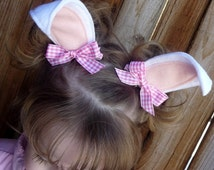 Hippity Hoppity Halloween Bunny Ear Clippies(also available in brown or gray)