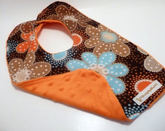 Retro Orange Flower Bib