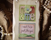 Shabby and chic Mother and Me petite sign