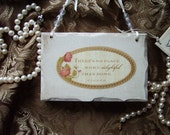 Shabby and Chic petite Wood Sister inspirational sign Home, distressed white