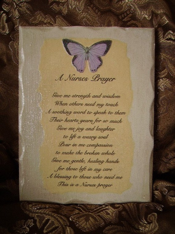 A Nurses Prayer Plaque
