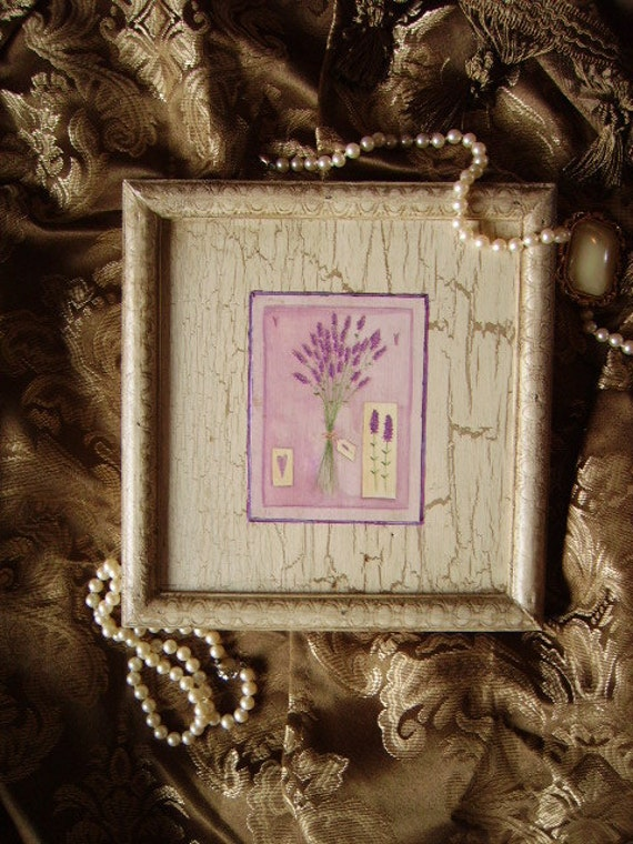 Shabby and chic, French Country Cottage, Wall decor Lavendar, antiqued white, recycled wood
