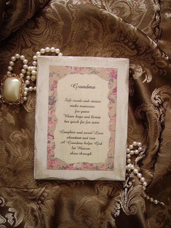 Grandmother verse,Vintage Look Inspirational Sign for Grandma, grandmother gift