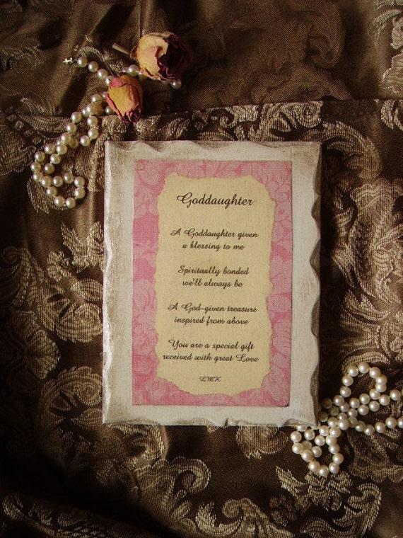 Goddaughter Inspirational Sign with Original Poem