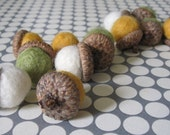 Baker's Dozen Set of Felted Acorns