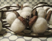 Set of Felt Acorn Ornaments- Two Dozen- Reserved