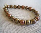 Shades of Fall Pearl Bracelet