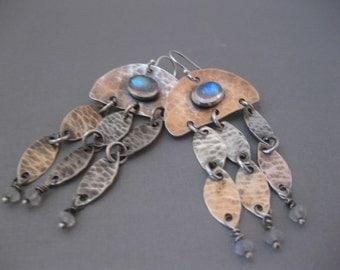 Moonstone Chandelier Earrings