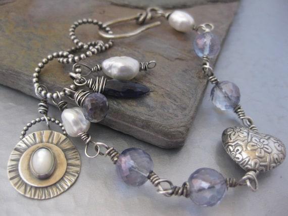 Blue Mystic Quartz Bracelet