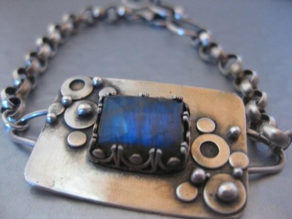 Labradorite Bubble Bracelet