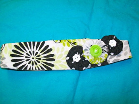 Handmade Hair Accessory, Headband, Made to Fit, Easy to Wear with Elastic Band, Adorned with Handmade Flowers