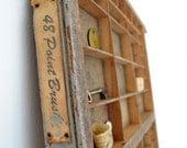 Vintage Printer Drawer Tray Wood
