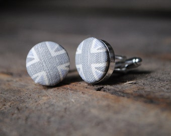 Shades Of Grey Union Jack Cufflinks