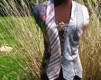 Women's Tie Top in Pinks & Blues