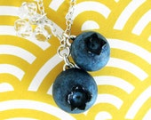Blueberry Necklace -Silver