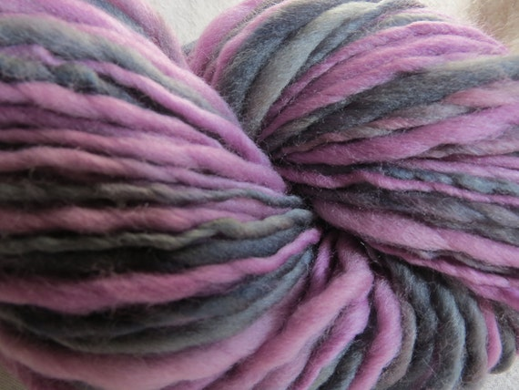 Amethyst Handspun Art Yarn 118 yards
