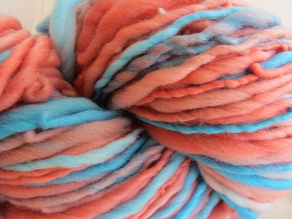 Tropical Handspun Art Yarn 46 yards
