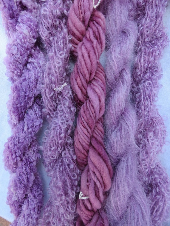 Assorted Mohair Boucle Mini skeins Yarn No.6