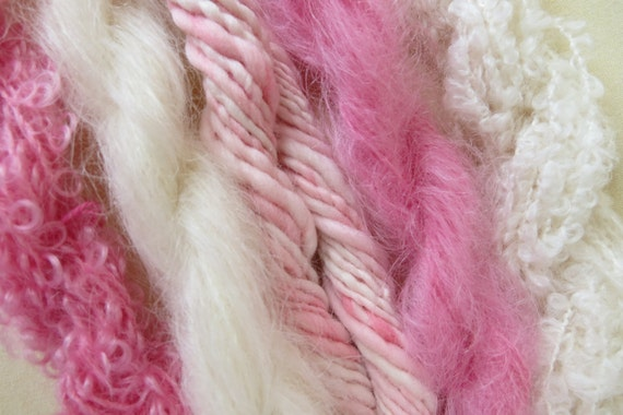 Assorted Mohair Boucle Mini skeins Yarn No.63