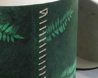 Hat Box - Green Ferns