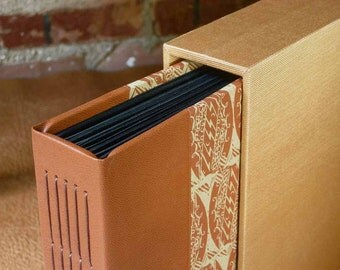 Photo Album with Case - Leather and Paper and Cloth
