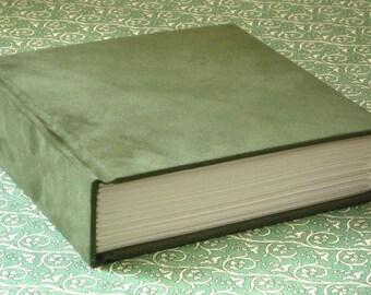 Journal Sketchbook - Green Ultrasuede