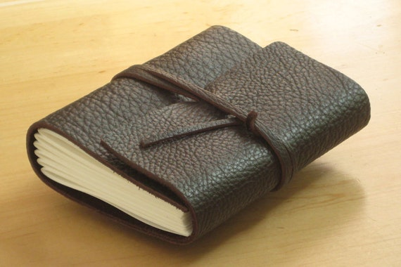 Leather Journal Dark Chocolate Brown