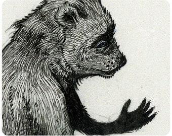 Anthropomorphic Animal Print - Little Bear Tells a Story