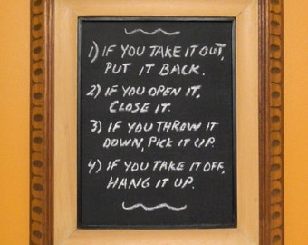 Vintage Frame -  Chalkboard - Decorative Wood