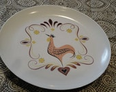 Retro Rooster Plate Set