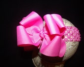 SASSYLILPRINCESSES..Double Layered HoT PiNk Boutique Bow and Interchangeable Headband