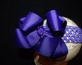 SASSYLILPRINCESSES..Double Layered PuRpLe Boutique Bow and Interchangeable Headband