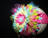Elegant Flower Clip with Headband Little Diva Collection Great for newborn toddler big girl weddings pictures