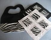 Zebra Print Baby Gift Set
