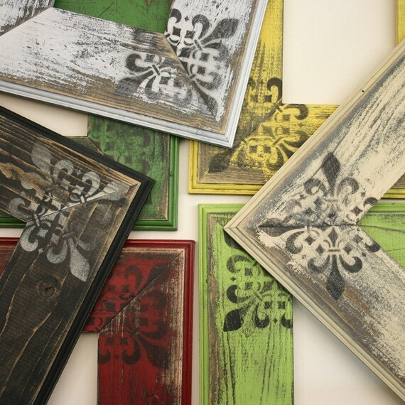 8x10 Chloe Picture Frame-Hand Painted-Distressed-Choose Your Size and Color