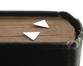 Sterling Silver Triangle Ear Studs
