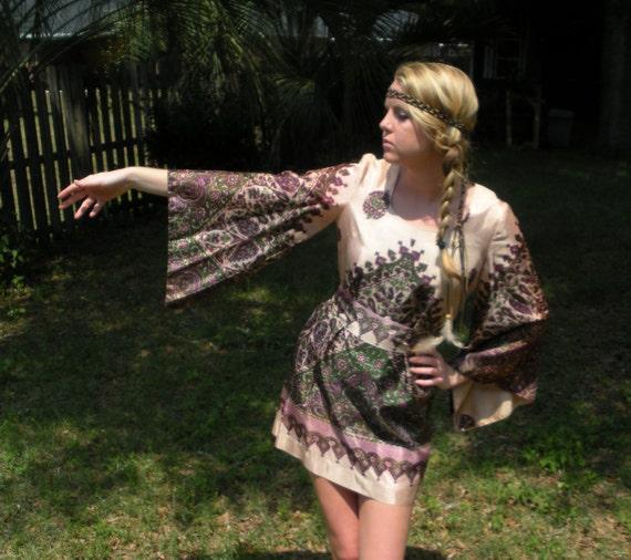 TWV Bohemian Collection - Pink hippie dress