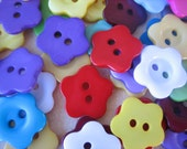 20PCS - Mixed Colors - Star Flower 2 Hole Buttons - Great for Scrapbooking, Sewing, Mixed Media Artwork - Findings by ZARDENIA