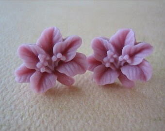 Lily Earrings - Raspberry - Free Standard US Shipping - Jewelry by ZARDENIA