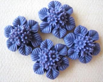 4PCS - New Arrival - Violet - Bouquet Cabochons - 21MM