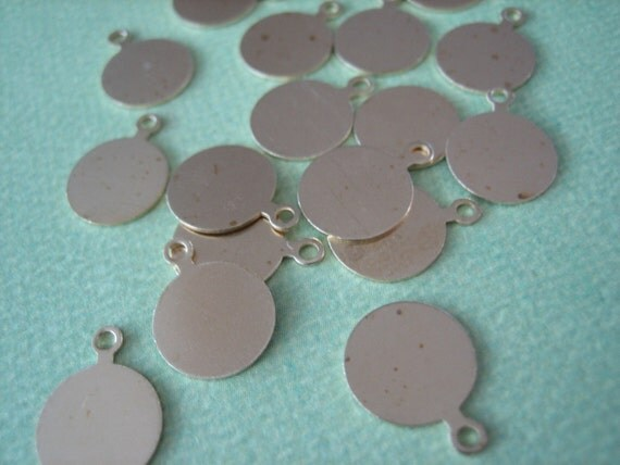 20PCS 10mm Round Gold Brass Metal Tags, Diy Charms and Crafts, Round Metal Tags, Brass Metal Tags for Jewelry