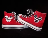 Infant and Kids Custom Chuck Taylor Mouse Ears High Top Converse Shoes