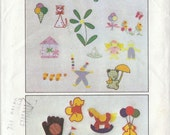 Vintage Pattern Childrens Embroidery Pattern 1970s