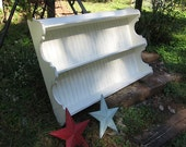 """XL  Plate  Rack    """"Solid off  White   """"   Country white ..   Wall Shelf"""