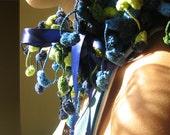 Fluffy Blue-green Neckwarmer No 2