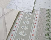 Vintage Wallpaper Sheets Collage Scrapbooking Cardmaking Supplies Assorted Gray Grey and White Decorative Paper Pack