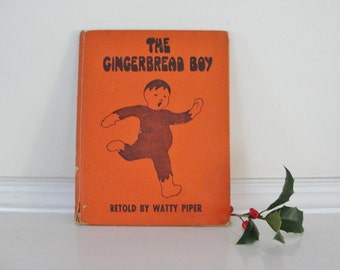 Vintage Children's Book, The Gingerbread Boy, Watty Piper, Platt and Munk, Eulalie Illustrations, 1927 Editon Gingerbread Boy
